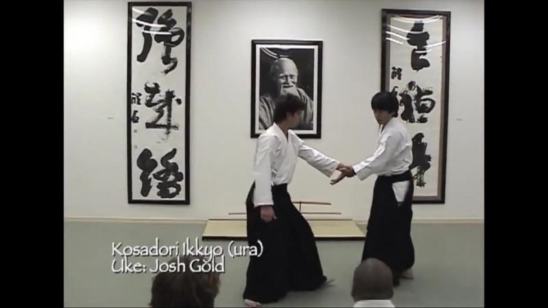 Козадори иккё ура, демонстрирует Харуо Мацуока Сэнсэй, Икадзути Додзе, ikazuchi.com/