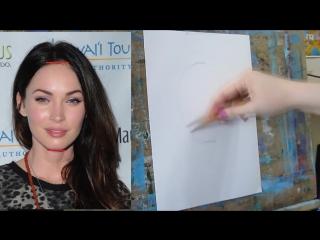 Как нарисовать портрет по фотографии! Часть первая Построение Пропорции лица!