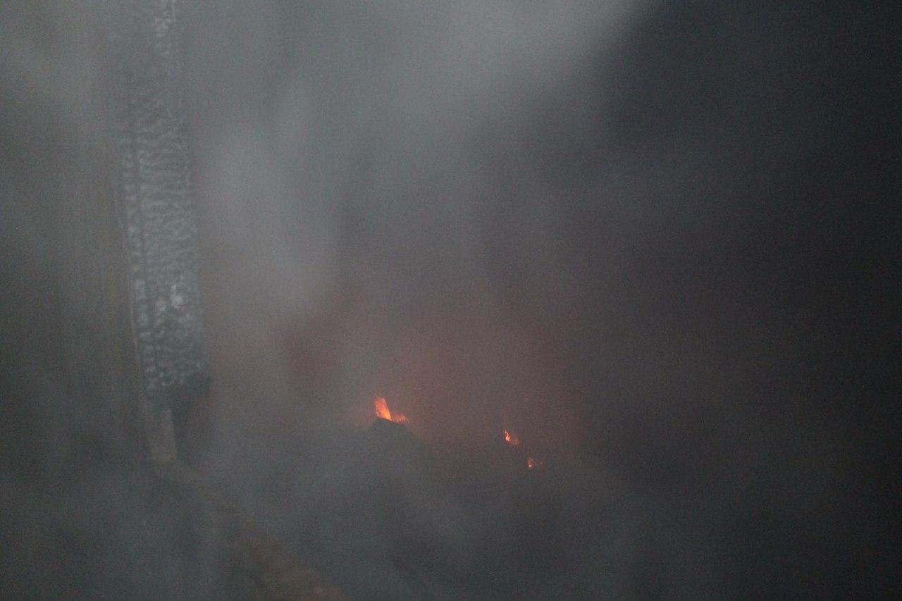 Огромный столб дыма