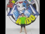 Ученик детской профессиональной спортивной школы #kudokids 🥋 Батый поздравляет всех Россиян 🇷🇺 с днём России !!!