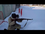 Карабин Мосина и револьвер Нагана - стрельба