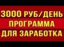 Бесплатно программа для заработка денег в интернете без вложений от 3000 р в день!