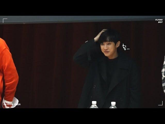 171110 명동 뮤직코리아 팬사인회 B1A4 진영 쿵해쪙 ㅠ_ㅠ