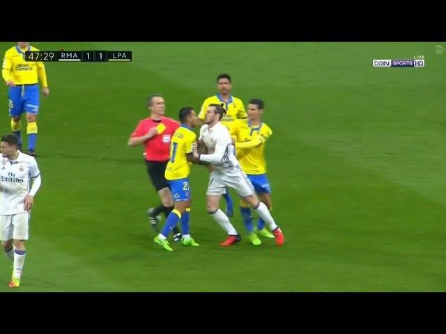 Gareth Bale Fight Red Card vs Las Palmas (1/3/2017)