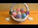 Uova con cesto Amigurumi/How to crochet easter eggs Amigurumi
