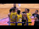 Devin Booker Larry Nance Jr Scuffle Lakers vs Suns October 20 2017 2017 18 NBA season