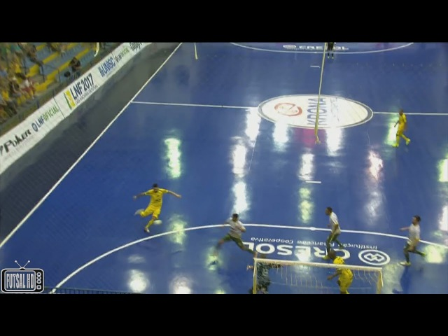 Gols Assoeva 1 0x0 1 Copagril Oitavas de Final Jogo 2 Liga Nacional de Futsal 2017 04 10 2017