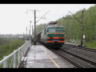 ВЛ80С 1523 под проливным дождём на о.п. Убыть Горьковской железной дороги.