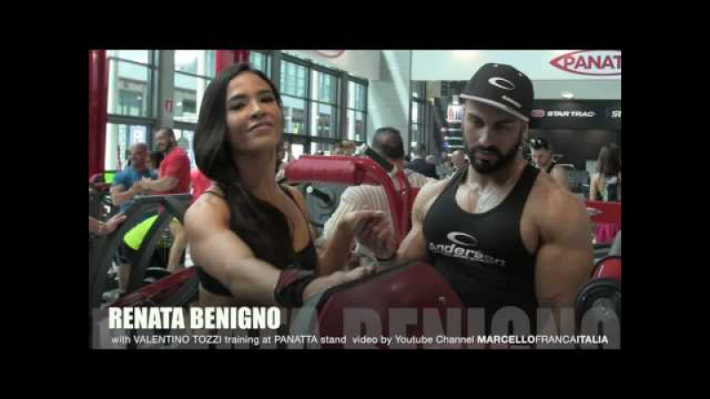 RENATA BENIGNO with VALENTINO TOZZI training at Panatta Sport in Rimini Wellness 2016 HD 1080p