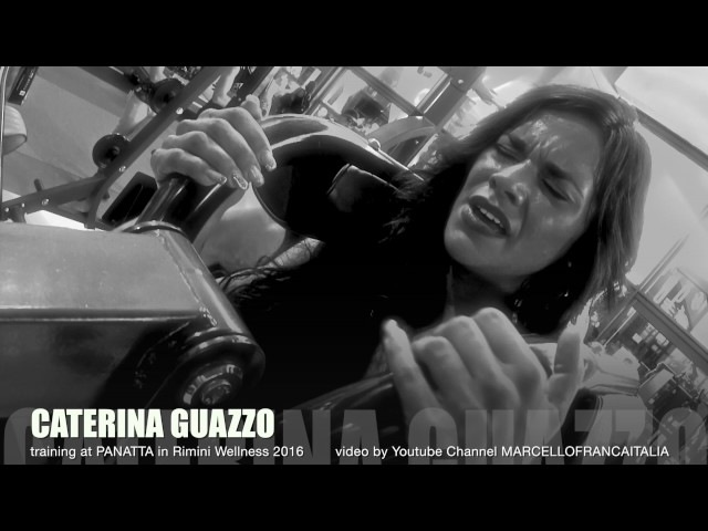 01 CATERINA GUAZZO training at Panatta Sport in Rimini Wellness 2016