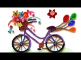 How To Make Quilling Bicycle with Flowers  Paper Quilling Art