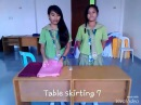 Swag Style Table Skirting 7 Demonstration