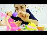 Видео с куклой Барби и чашки-разукрашки! Игры для детей с лучшей подружкой Кристиной.