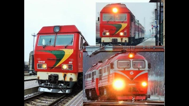 Train spotting Klaipeda TEP70BS 005 and 2M62M 0676
