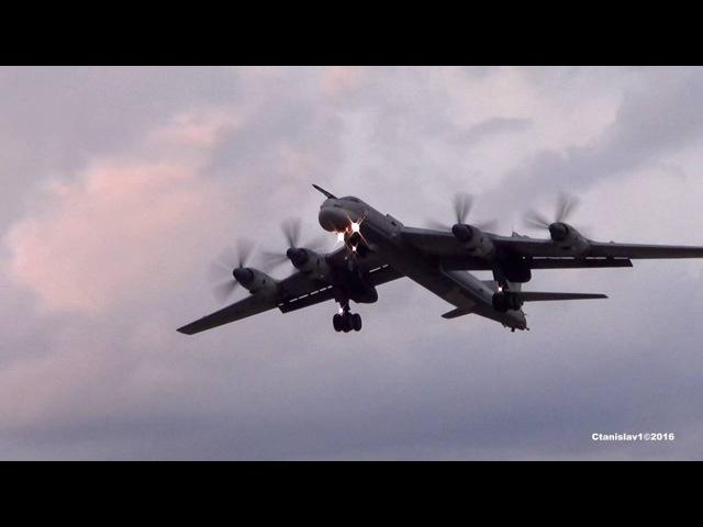 FANTASTIC SONG OF TU-95МС. Очень красивый вечерний взлет. Кубинка