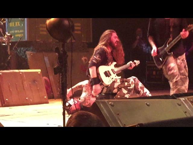Joakim Brodén of Sabaton Gets Ambushed by Bandmate in Cleveland LIVE