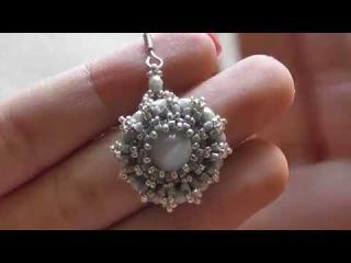 TUTORIAL | Orecchini Pace (Rocailles, delica, mezzi cristalli, perla)