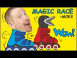 Magic Race + Wheels on the Bus + MORE Stories for Kids from Steve and Maggie Wow English TV