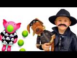 Детское видео: Детектив Даник и ложный свидетель - Расследуем кто обидел животных. Видео для детей