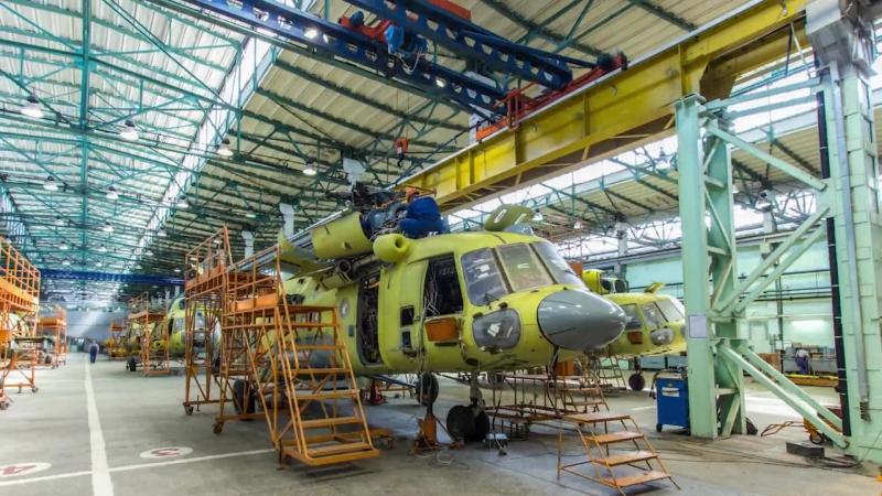 Видеоиллюстрация Вертолеты России приступили к производству 31 вертолета для ГТЛК