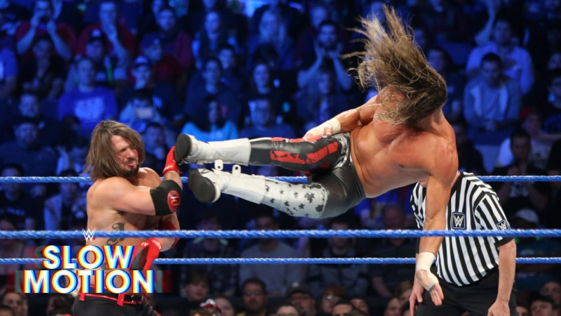 ]WWE QTV[☆]See AJ Styles and Dolph ZIgglers thrilling rematch in slow-motion]]☆[Слоу Моушен]☆[
