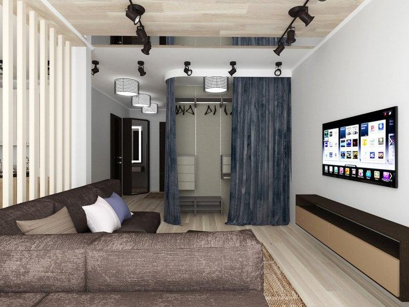 Проект квартиры площадью 43 кв.
