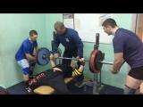 Жим в слинге 170 кг на 2 повтора