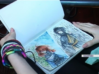 14-летняя школьница из Назарова создает мультфильмы