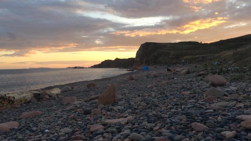 Закат на острове Рейнеке