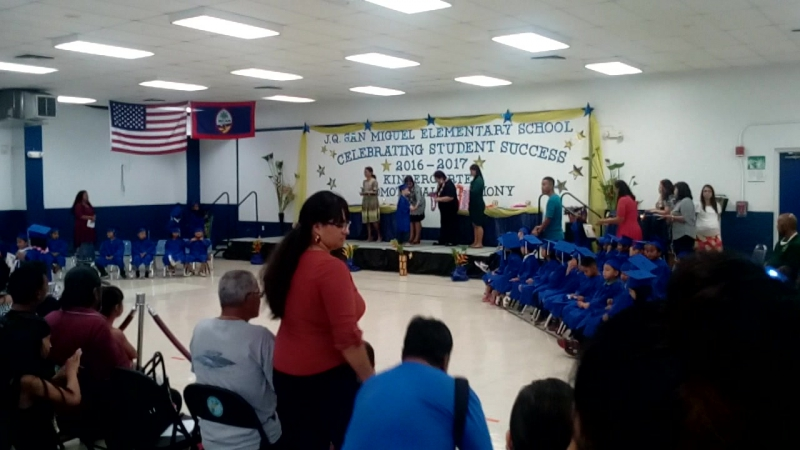 Ceremony day. San Miguel elementary School.
