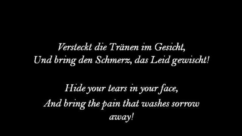 Die! 'Lass Es Regnen' (English Lyrics)