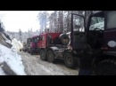 Грузовики и экстремальные условия на зимнике/дороги на севере.