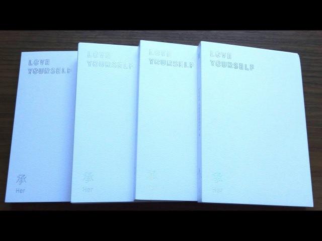 Unboxing BTS (Bangtan Boys) 방탄소년단 5th Mini Album Love Yourself 承 'Her' (All L, O, V E Editions)