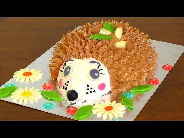 Торт ЁЖИК мастер-класс как украсить торт кремом Cake hedgehog master class