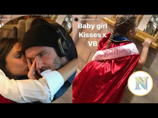 Victoria Beckham shares cute snap of 'baby girl' Harper, five, in a tiara and regal cloak