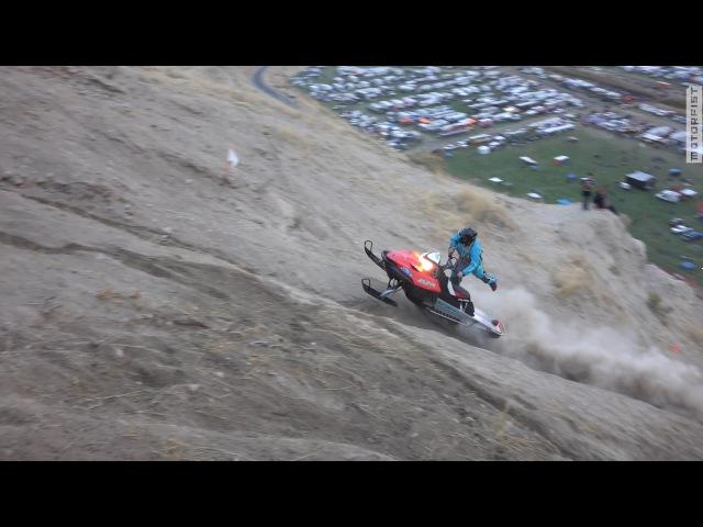 Snowmobile Climbs Big Nasty Pro Hillclimb
