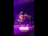 "Lea and Darren Criss performing ""Falling Slowly"" at Elsie Fest via Darren's Instagram Stories (October 8, 2017)"