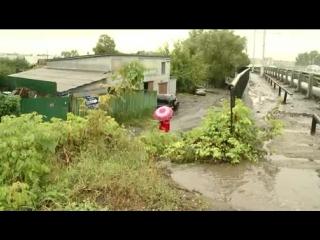 В дожди улицу Маресьева затапливает после ремонта путепровода