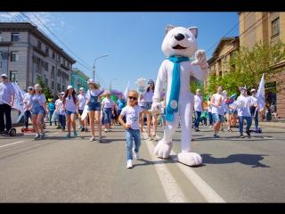 Злата Демьянова и Ю-Лайка на детском карнавале в Красноярске