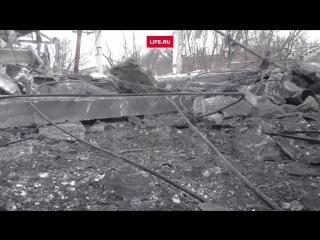 Видео с места обстрела Донецкого химического завода