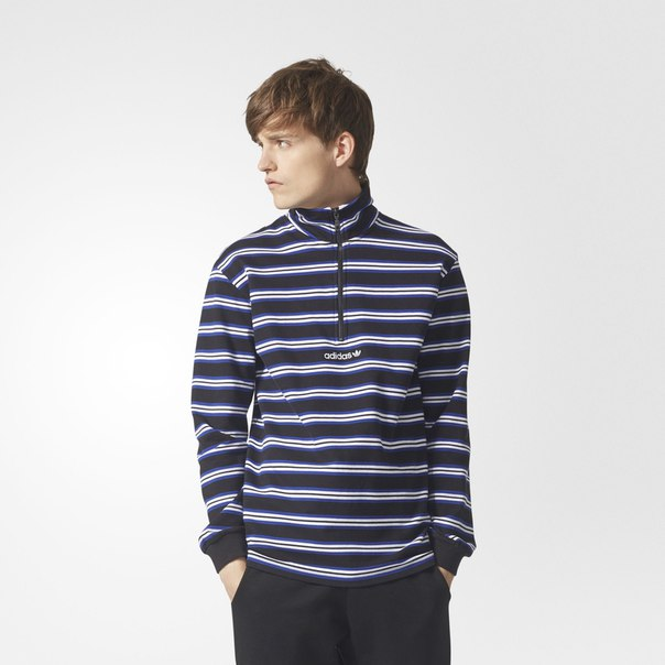 Джемпер Stripe Mock Neck