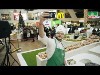 Самый длинный бутерброд с Беконом Велком. Рекорд России 2016 г.