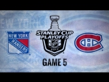 NHL 17 PS4. 2017 STANLEY CUP PLAYOFFS 100th FIRST ROUND GAME 5 EAST NYR VS MTL. 04.20.2017. (NBCSN) !