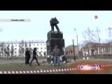 В Орехово-Зуеве вандалы разрушили памятник Пушкину