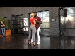 Curtis & carola dancing kizomba at dutch international zouk festival 2016