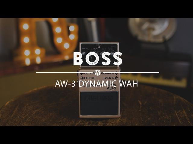 Boss AW-3 Dynamic Wah   Reverb Demo Video