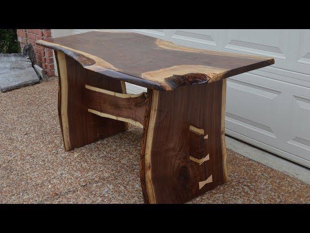 Rustic Walnut Slab Farm House Dining Table