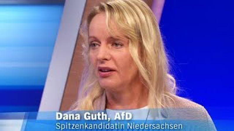 Applaus, Dana Guth (AfD) sorgt für Frischluft in der Runde - Niedersachsen hat die Wahl