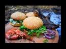 Гамбургер, Пицц-Бургер. Соус ГОЛУБАЯ мечта (авторский) Лесной ФИШБУРГЕР