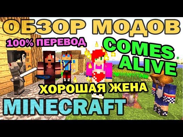 Хорошая жена и разумные жители Comes Alive на русском Обзор мода для Minecraft